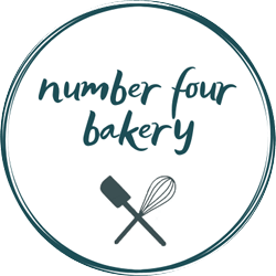 Logo for number four bakery