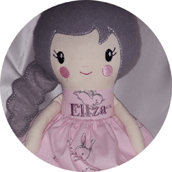 Logo for Hug me love me dolls with Jan